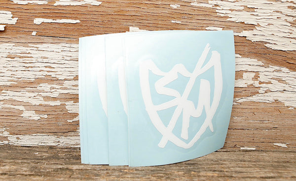S & M bikes -S&M Sharpie Shield Sticker 10pk -Magazines + stickers+patches -Anchor BMX