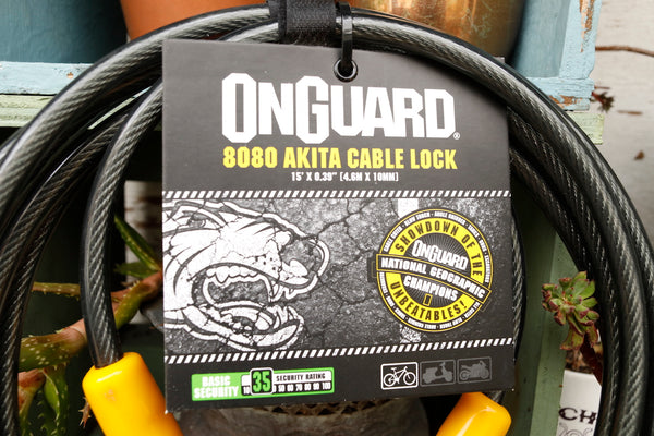 ONGUARD LOCKS -OnGuard Akita Series - Cable Long - 4.6 metres x 10mm -TOOLS + LOCKS + LIGHTS + PUMPS -Anchor BMX