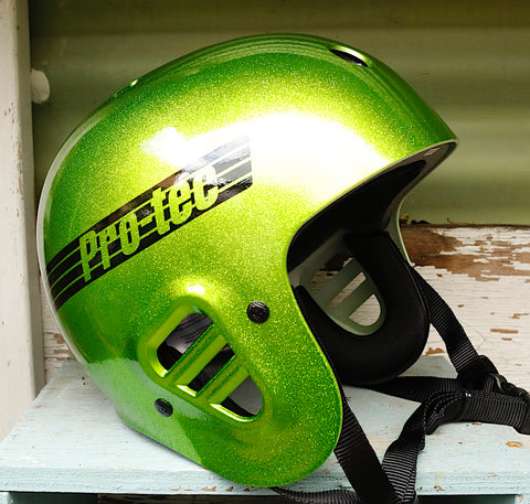 PROTEC HELMETS -Protec Full Cut Certified Helmet Candy Green Flake -HELMETS + PADS + GLOVES -Anchor BMX