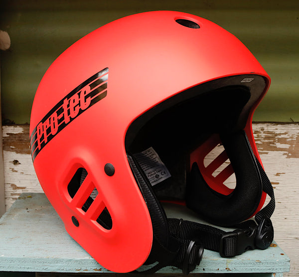PROTEC HELMETS -Protec Full Cut Certified Helmet Matte Bright Red -HELMETS + PADS + GLOVES -Anchor BMX