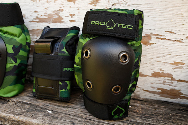 PROTEC HELMETS -Protec Street Gear Jr Youth Pad Set Camo -HELMETS + PADS + GLOVES -Anchor BMX
