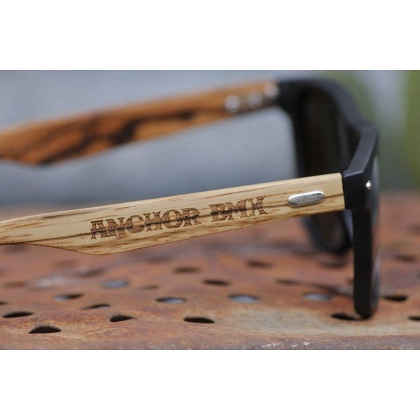 Anchor BMX -Anchor Driftwood Glasses Matte Blk -HATS + BEANIES + SHADES -Anchor BMX