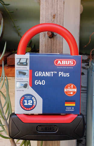 ABUS LOCKS -Abus Granit Plus 640 U-Lock -TOOLS + LOCKS + LIGHTS + PUMPS -Anchor BMX