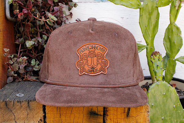 Anchor Big Brown Cord Hat