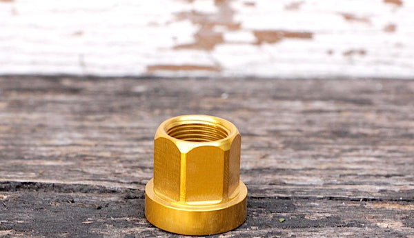 Bmx Wheel Nuts Alloy 14mm Gold
