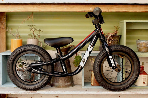 DK -Dk Bikes Nano Balance Bike Black Red -Complete Bikes -Anchor BMX
