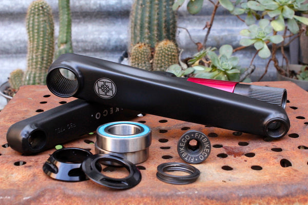 FIT BIKE CO 2PC INDENT 24MM CRANKS BOSSLESS