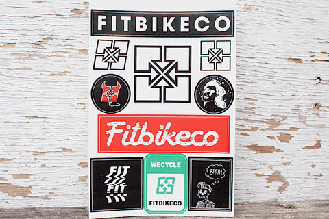 Fit Bike Co. -Fit Bike Co Sticker Sheet -Magazines + stickers+patches -Anchor BMX