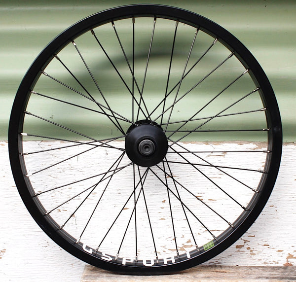 GSPORT -Gsport Elite Front Wheel -WHEELS + SPOKES + BUILDS -Anchor BMX