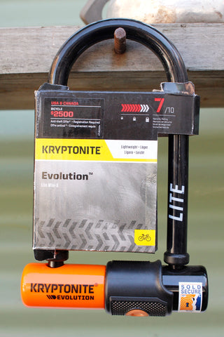 Kryptonite -Kryptonite Evolution Lite Mini 6 U-Lock -TOOLS + LOCKS + LIGHTS + PUMPS -Anchor BMX