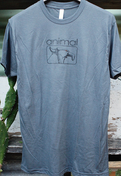 Animal -Animal Red Eye Tee Grey -CLOTHING -Anchor BMX