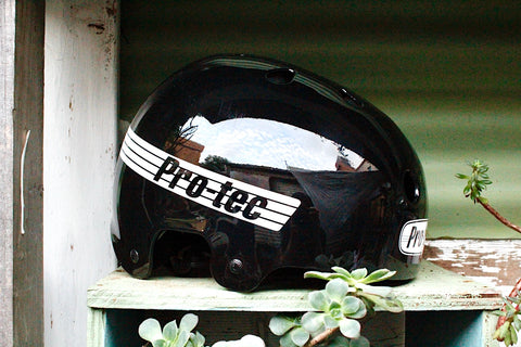PROTEC HELMETS -Protec Old School Skate Helmet Gloss Black -HELMETS + PADS + GLOVES -Anchor BMX