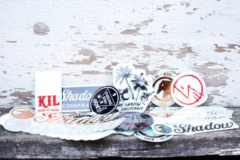 THE SHADOW CONSPIRACY -TSC Assorted Sticker Kit -Magazines + stickers+patches -Anchor BMX