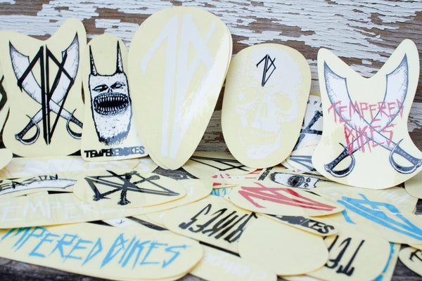TEMPERED -Tempered Sticker Kit -Magazines + stickers+patches -Anchor BMX
