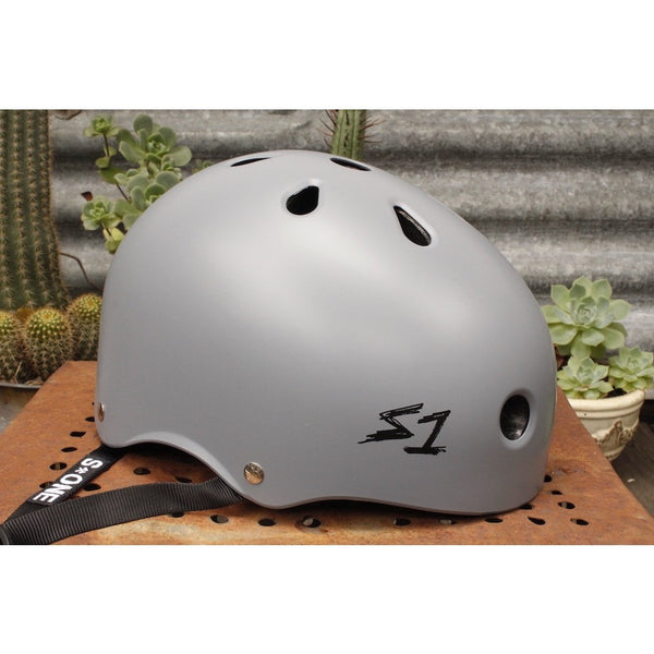 S1 HELMETS MATTE GREY LIFER / BIKE HELMET