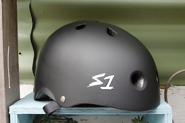 S1 Lifer Helmet Certified Matte Blk - Anchor BMX