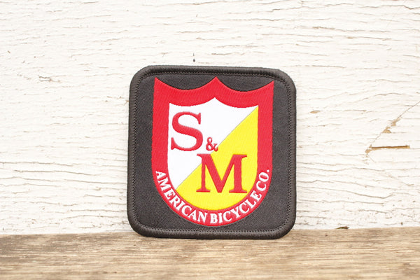 S & M bikes -S&M Bikes Shield Patch Square -Magazines + stickers+patches -Anchor BMX
