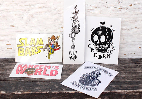 S & M bikes -S&M 5pc Sticker Pack -Magazines + stickers+patches -Anchor BMX