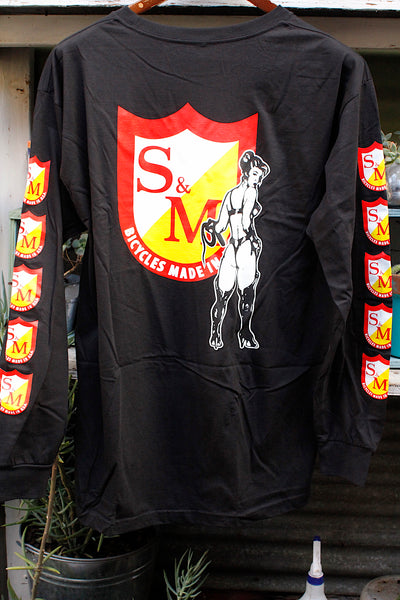 S & M bikes -S&M Whip Girl Longsleeve Tee Black -CLOTHING -Anchor BMX