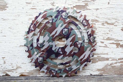 S & M bikes -S&M Drain Man Camo Shield Wrap Sprocket -SPROCKETS -Anchor BMX