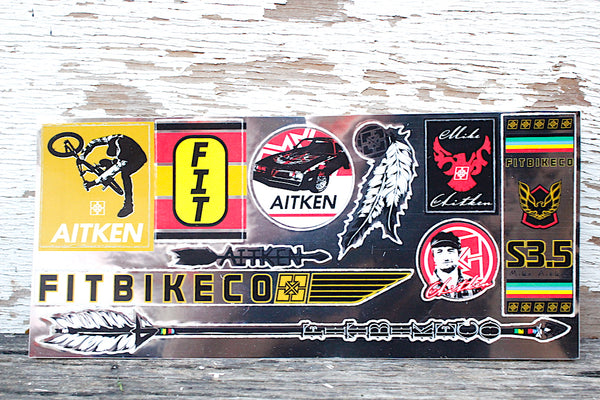 Fit Bike Co Mike Aitken Sticker Sheet