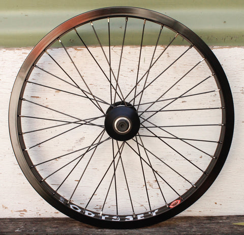 Odyssey Hazard Lite Front Wheel Blk Polished