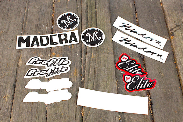 PROFILE RACING/MADERA STICKER PACK / ANCHOR BMX