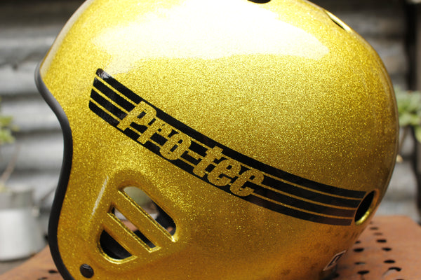 PROTEC FULL CUT SKATE HELMET GOLD FLAKE