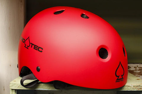 PROTEC HELMETS -Protec Classic Skate Helmet Matte Red -HELMETS + PADS + GLOVES -Anchor BMX