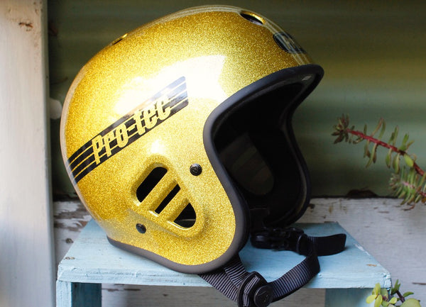 Protec Full Cut Certified Helmet Gold Flake
