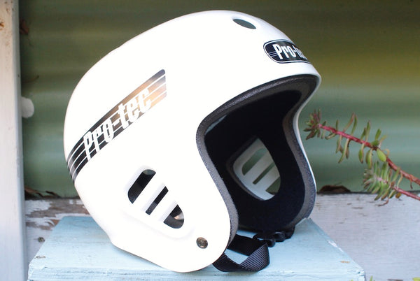 Protec Full Cut Skate Helmet White