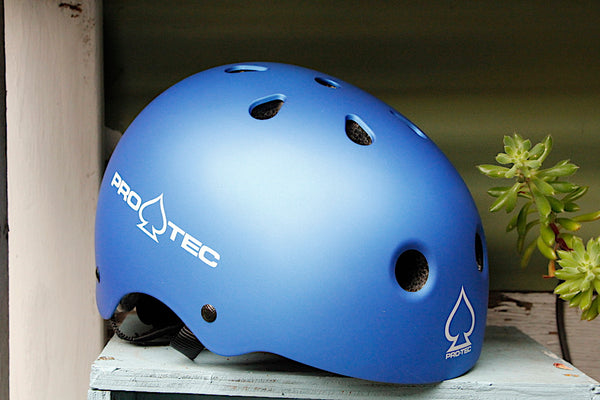 Protec Jr Classic Fit Helmet Matte Blue (Certified)