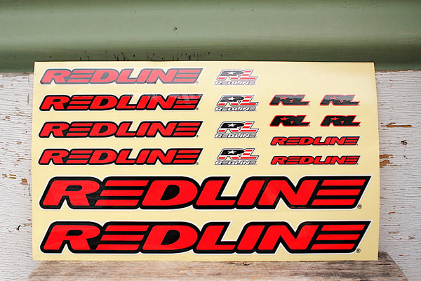 REDLINE -Redline Frame Decal Set -Magazines + stickers+patches -Anchor BMX