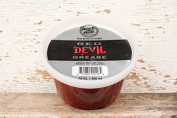 "Rock ""N"" Roll Red Devil Grease Tub"