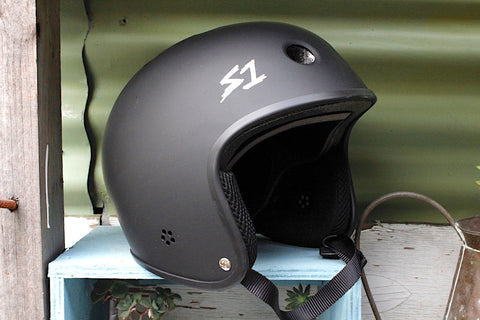 S1 RETRO LIFER HELMET MATTE BLK