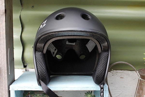 S1 RETRO LIFER HELMET MATTE BLK - FULL CULL