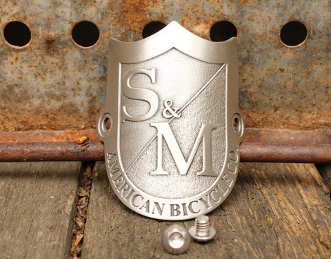 S&M BIKES SHIELD HEAD-TUBE BADGE