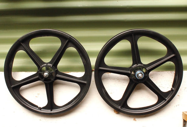 SKYWAY TUFF MAG WHEELS II SET 5 SPOKE BLK
