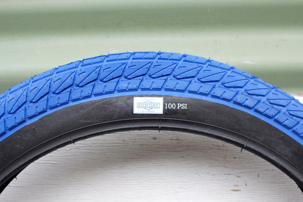 SUNDAY CURRENT 20 INCH BLUE BMX TYRE