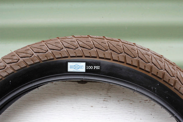 SUNDAY CURRENT 20 INCH BROWN BMX TYRE