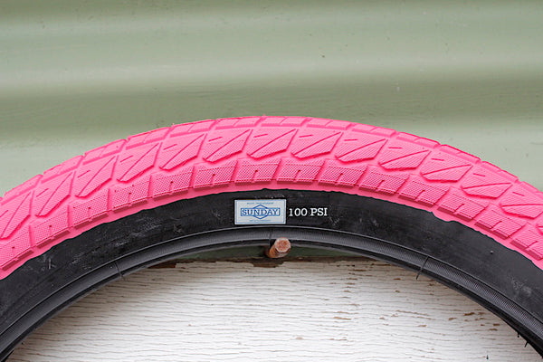 SUNDAY CURRENT 20 INCH PINK BMX TYRE