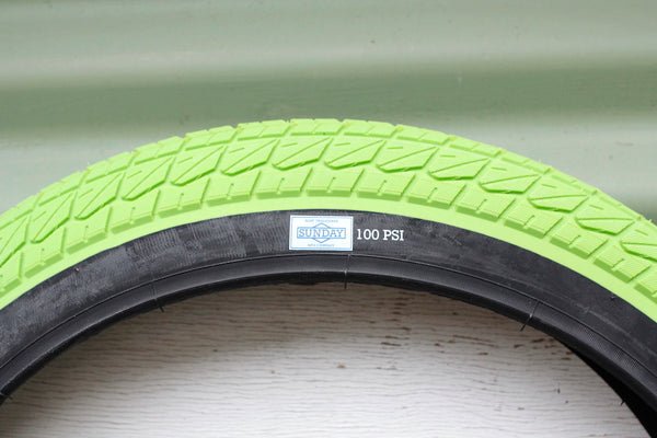SUNDAY CURRENT 20 INCH GREEN BMX TYRE