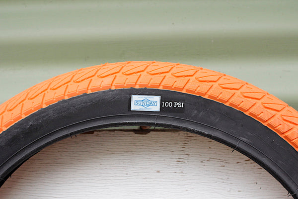 SUNDAY CURRENT 20 INCH ORANGE BMX TYRE