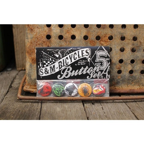 S&M BIKES 1? BUTTONS 5 PACK - Anchor BMX