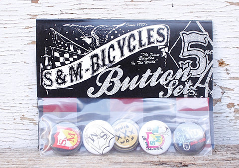 S & M bikes -S&M 30 Year 1″ Buttons 5 Pack -ACCESSORIES -Anchor BMX