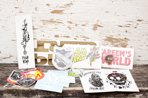 S & M bikes -S&M Assorted 20pc Sticker Pack -Magazines + stickers+patches -Anchor BMX