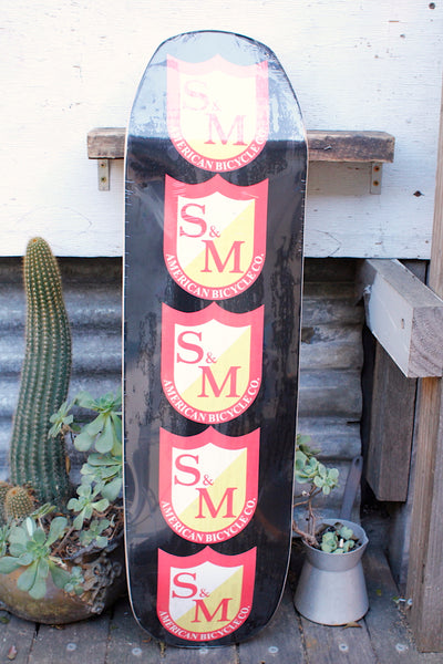 S&M BIG SHIELD SKATE DECK -  9.125″ POOL DECK