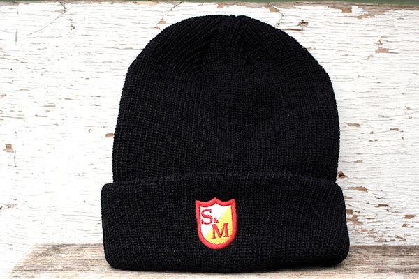 S&M BIKES SHIELD EMBROIDERED BEANIE