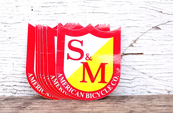 S & M bikes -S&M Bikes Shield Small Stickers 15pk -Magazines + stickers+patches -Anchor BMX