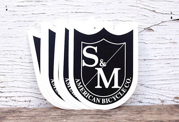 S & M bikes -S&M Bikes Shield Medium Stickers 10Pk -Magazines + stickers+patches -Anchor BMX